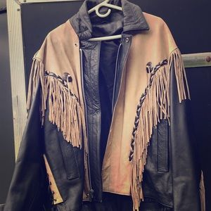 Other - Brand New Fringe Leather Jacket
